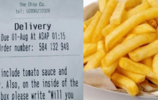 Irishman gets the local chipper to help him propose to his girlfriend