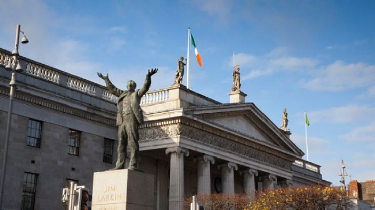 PIC: GPO illuminated in protest against Papal visit