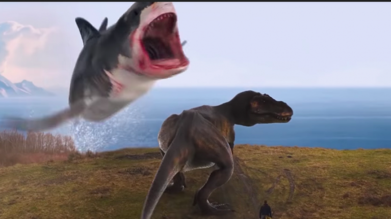 The next Sharknado film has a T-Rex fighting a shark and