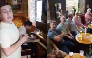 These lads on a stag do belted out an absolutely perfect version of The Whole of the Moon