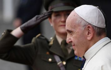 Pope Francis met with clerical abuse survivors in Dublin on Saturday
