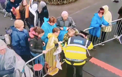 RTÉ captured this lovely moment between a Garda and the public at the Pope's visit in Knock
