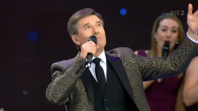 Daniel O'Donnell got the Sky News graphics treatment on Saturday night