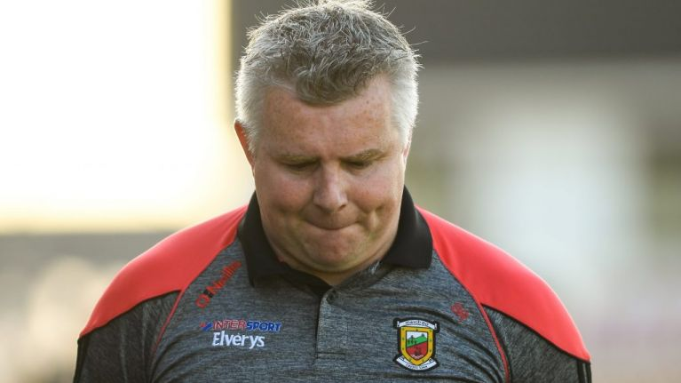 Stephen Rochford resigns as Mayo manager, citing insufficient support from the board