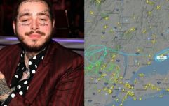 Plane carrying Post Malone set to make emergency landing after two wheels blow out (Report)