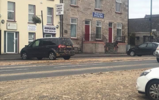An entire street in Ireland has been closed after slurry was spilled everywhere