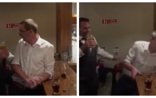 This man at a wedding in Galway falling through the bar 'Del Boy style' is absolutely priceless