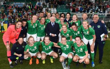 Michael D. Higgins celebrating with the Ireland women's team after 4-0 win will warm the cockles of your heart