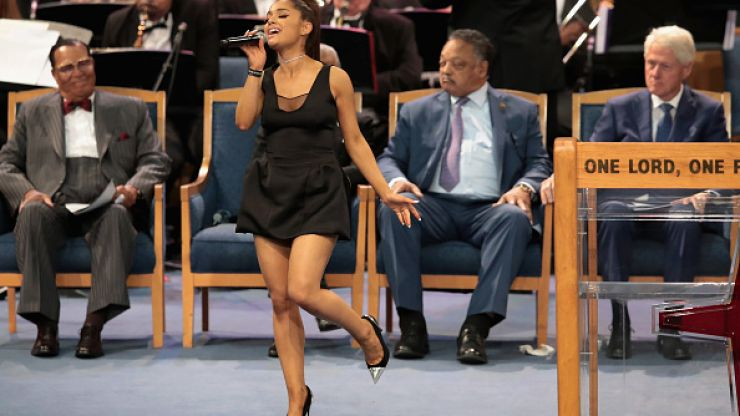 Bishop apologises for inappropriately touching Ariana Grande