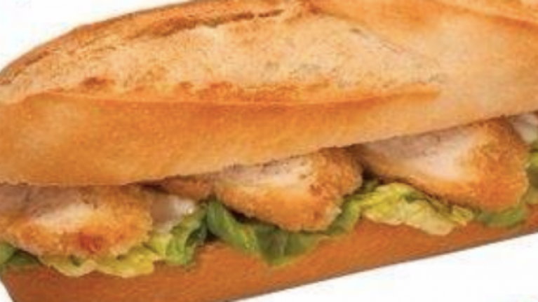 Somebody thinks they've created the ultimate Irish hot chicken fillet roll