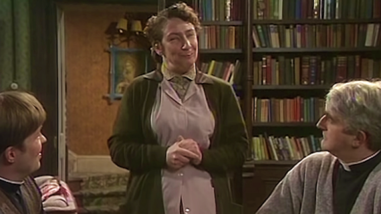 Father Ted creator finally settles the mystery over Mrs Doyle's actual name