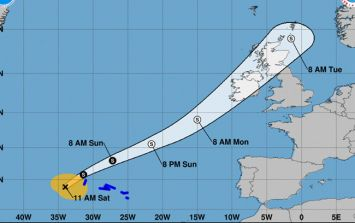 Met Éireann issue statement on path and strength of Tropical Storm Helene