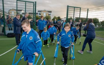 State-of-the-art football pitch for children who use walking frames unveiled in Dublin