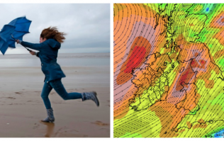 Met Éireann extend the status orange weather warning to 17 counties for Storm Ali