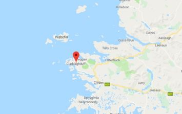 Caravan with woman inside blown off a cliff in Galway