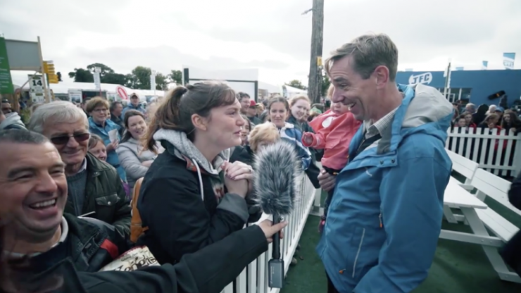 Ryan Tubridy met his super-fan at the Ploughing Championships and made her day