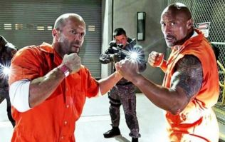 The Rock has shared the first behind-the-scenes image from the Fast & Furious spin-off movie