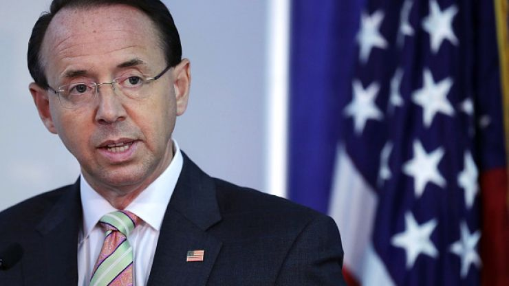 Huge blow to Russia investigation as Donald Trump set to fire Rod Rosenstein