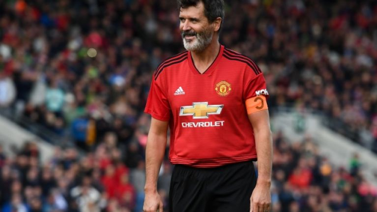 After playing in the Liam Miller tribute game, Roy Keane went for a kickaround with some local Cork kids