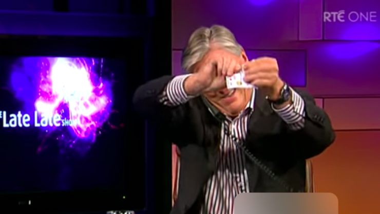 WATCH: Pat Kenny speaks about the moment he tore up Late Late Toy Show tickets on air