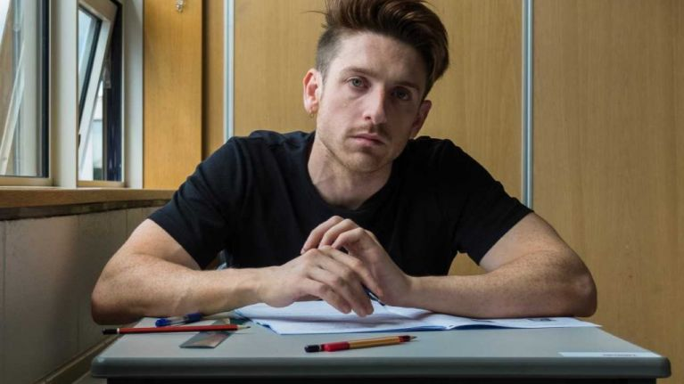 Having shredded his results first time around, Stephen Byrne is back to resit the Leaving Certificate nine years on
