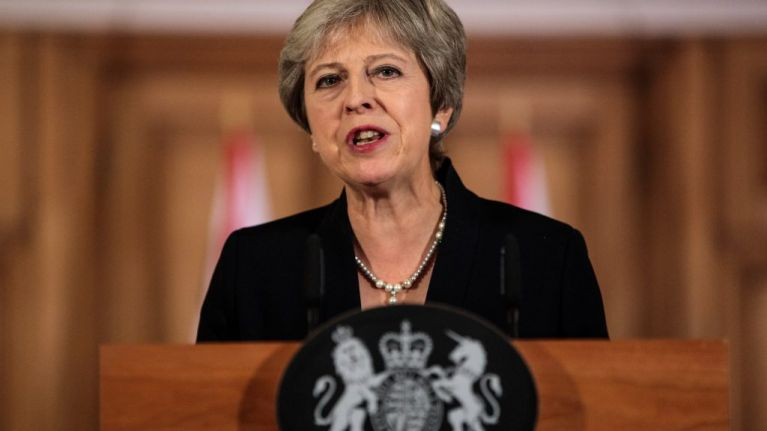 Theresa May's speech references hard border, no-deal Brexit and Northern Ireland in the Customs Union
