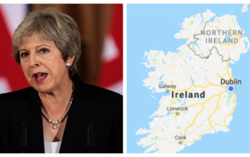 Irish people point out the obvious about Theresa May's 'divides our country in two' remark