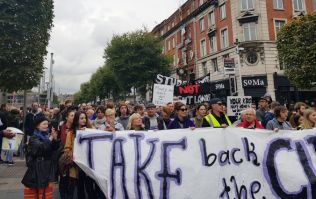 PICS: Housing activists in Take Back The City protest block off O'Connell Street