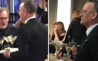 Being the legend he is, Tom Hanks delivered martinis to people at the Golden Globes