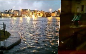 Storm Eleanor wasn't about to stop this delivery man in Galway from delivering his food