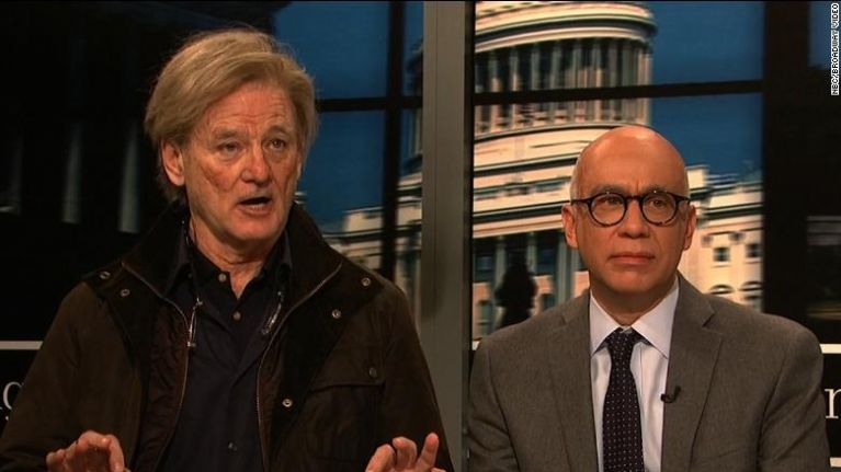 Bill Murray as Steve Bannon lists the horrifying candidates he has lined up to be the next President