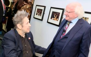 Michael D. Higgins hugging Shane McGowan and presenting his award is wonderful