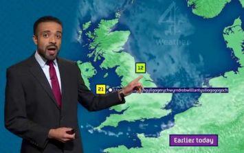 Channel 4 weatherman blasts Met Éireann for naming 'Storm Fionn'