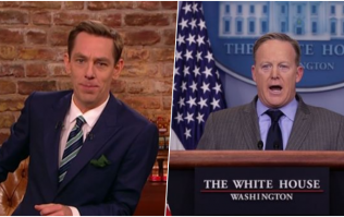 Donald Trump's former Press Secretary Sean Spicer is on The Late Late Show this week