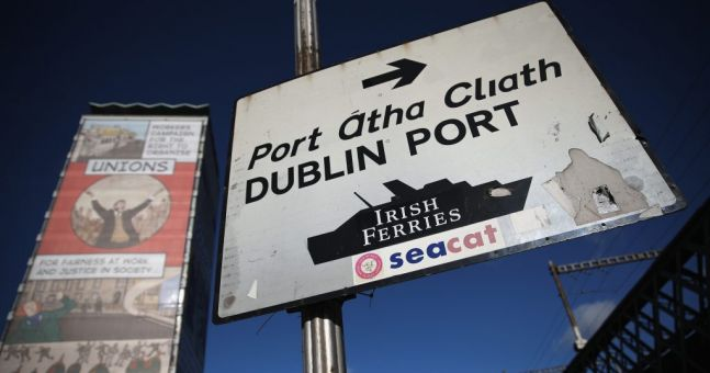 A man has died after slipping and falling into water at Dublin Port