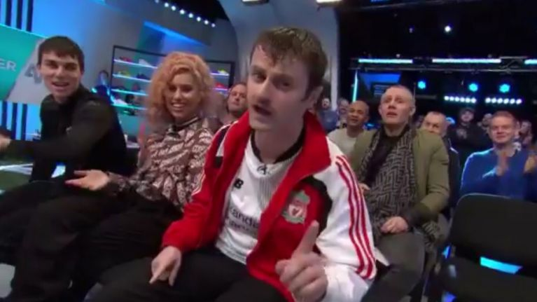 "Liverpool fan from Cork performs ""greatest Liverpool song of all time"" on Soccer AM"
