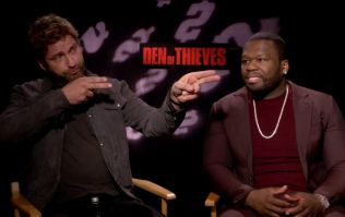 EXCLUSIVE: Gerard Butler and 50 Cent talk Den Of Thieves, P.S. I Love You and who is the best shot