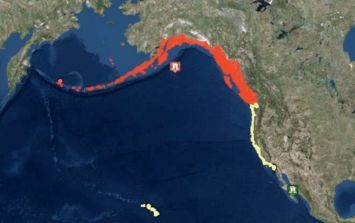 A tsunami warning has been issued to the entire US West Coast following a 8.2 earthquake
