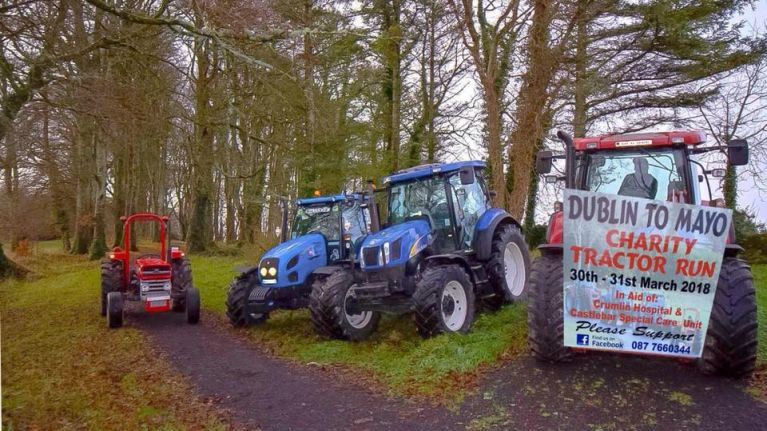 A group of tractor enthusiasts are doing a tractor run from Dublin to Mayo in aid of a great cause