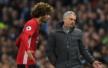 Marouane Fellaini substituted off seven minutes after coming on against Spurs, internet reacts as you'd expect