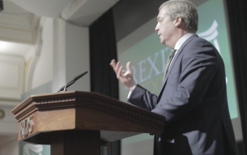 The strange and unsettling world of the Irexit conference where Nigel Farage was greeted like a returning hero