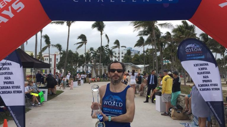 Galway man finishes first in race involving seven marathons in seven days across seven continents