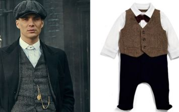 There's now Peaky Blinders baby clothes and they're pretty cheap