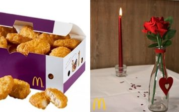 McDonald's is doing a three-course meal for Valentine's Day