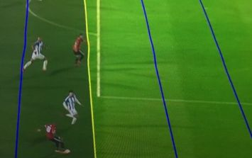 Viewers were absolutely furious at the VAR graphic resulting in Mata being offside