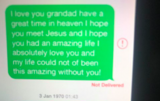 PIC: If you've lost a grandparent, these text messages from a child will melt your heart
