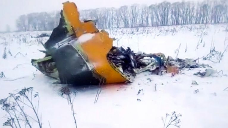 Russian jet crashes following take-off from Moscow