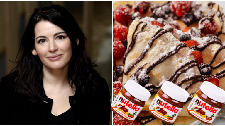 This is how you make Nigella Lawson's delicious Nutella Pancakes