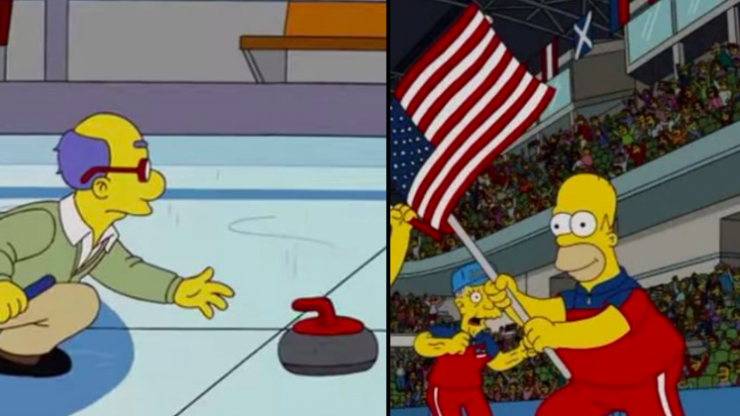 The Simpsons predicted events that would happen at the Winter Olympics years in advance