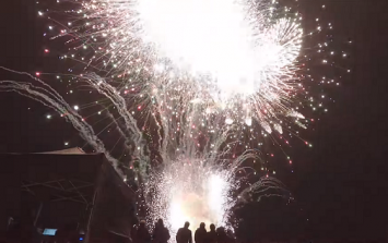 WATCH: YouTuber launches 10 minutes' worth of fireworks in 10 seconds